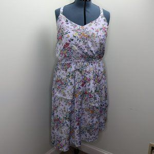 A New Day Blue Spring Ruffle Dress Size XL